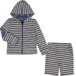 Andy & Evan Navy White Striped Hoodie & Shorts 6